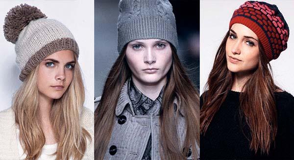 Зимний головной убор для овального типа лица