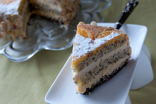 Маковый пирог  с апельсинами