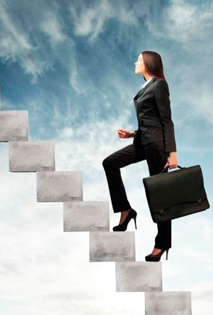 Как подняться по карьерной лестнице женщине