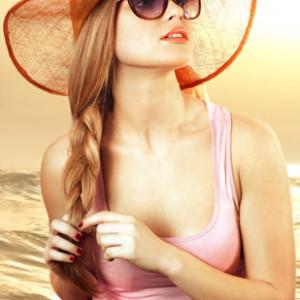 Прически для пляжа
