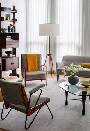 Дизайн квартиры в ретро-стиле