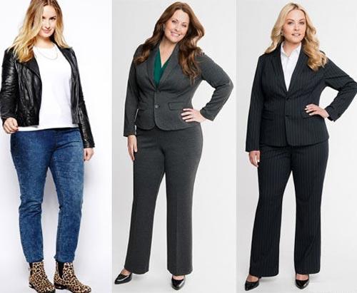 Правильные фасоны брюк для полных дам