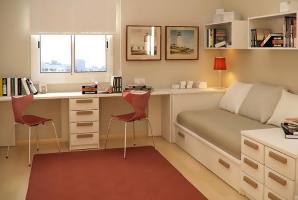 Фото маленькой детской комнаты для двоих