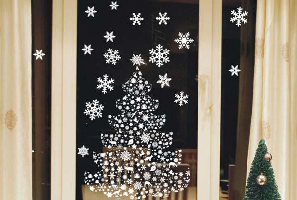 Декор окон к Новому году (фото)