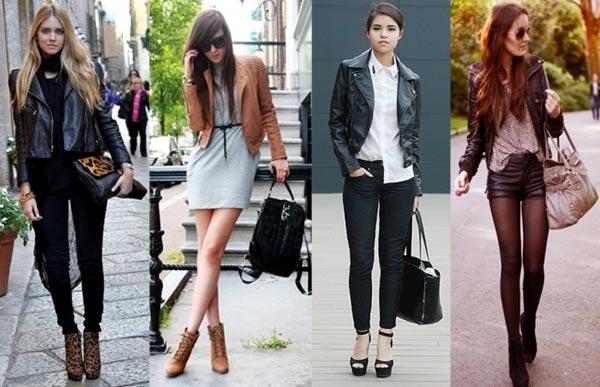 С чем одевать кожаную куртку?