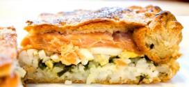 Дрожжевой рыбный пирог