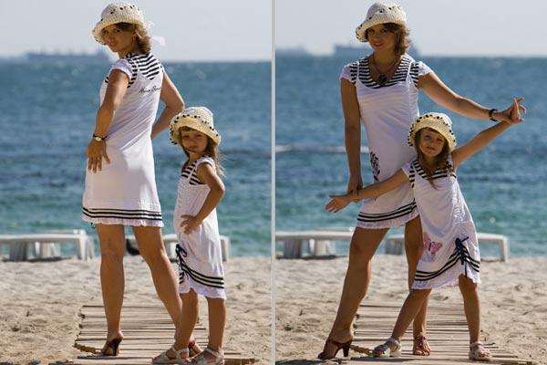 Мама и дочка – один стиль одежды