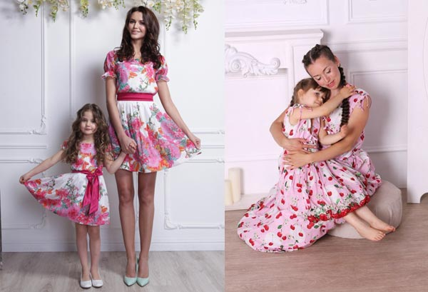 Мама и дочь – один стиль модной одежды