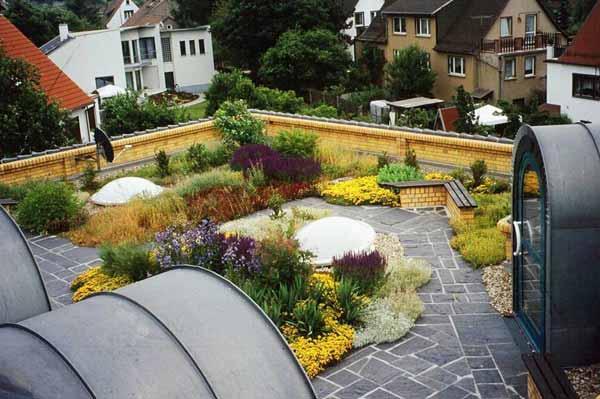 Как обустроить сад на крыше