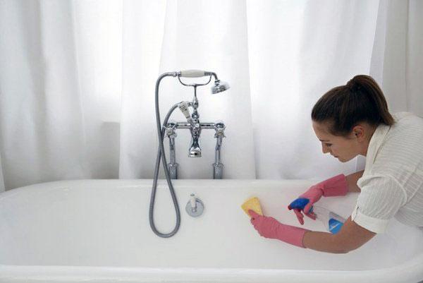 Методы очистки ванной
