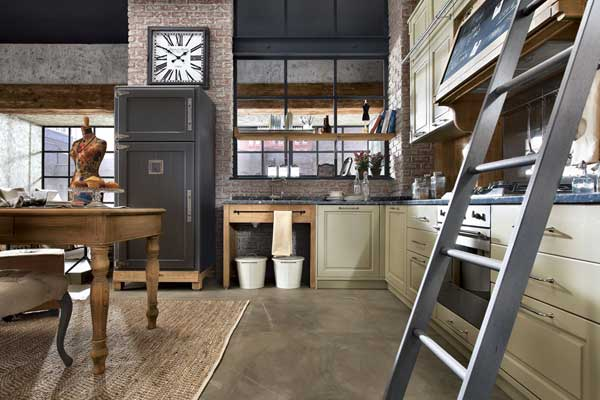 Интерьер кухни в стиле винтаж