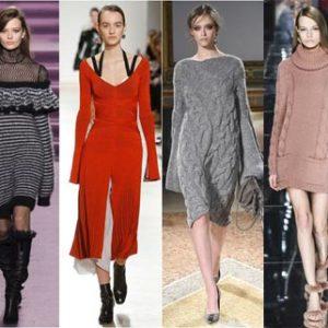 Модные платья зима 2017