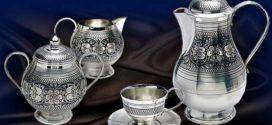 Серебряная посуда для чаепития