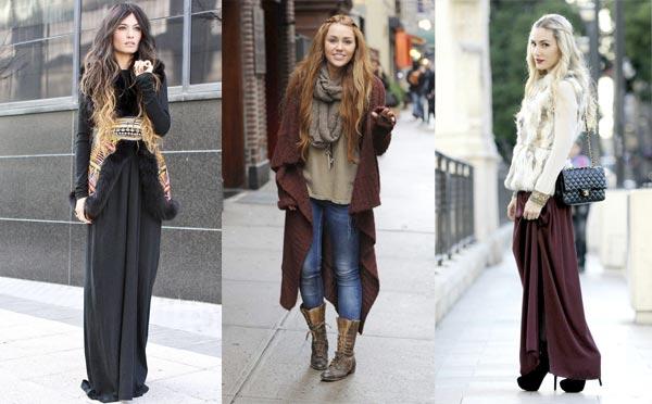 Как одеваться в стиле бохо зимой