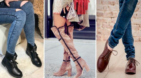 Основные виды женской обуви для холодного времени года