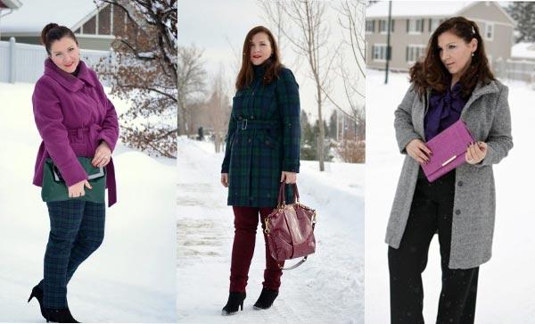 Зимний гардероб для полной девушки