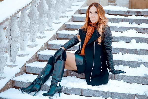 Зимние сапоги из натуральной кожи