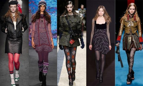 Модные колготки осенне-зимнего сезона