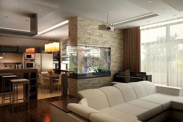 Аквариум как часть интерьера квартиры