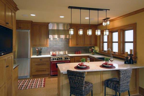 Как выбрать подходящую люстру для кухни