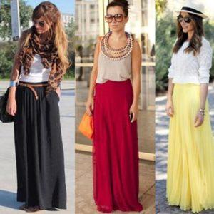 С чем носить длинную юбку этим летом?