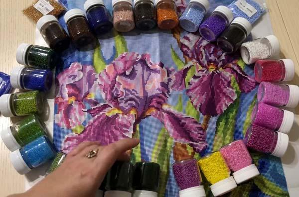 Как создать красивую картину из бисера