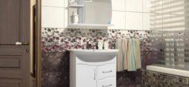 Зеркало с полкой для ванной