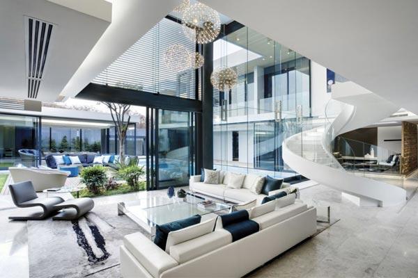 Дизайн гостиной в стиле «хай-тек» или лофт