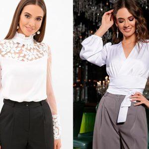 Варианты оформления и стили женских блузок