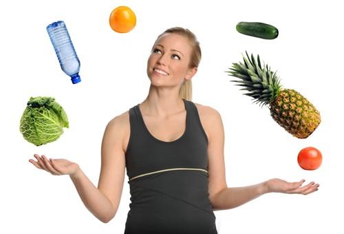 Фрукты, овощи, вода - это женская еда