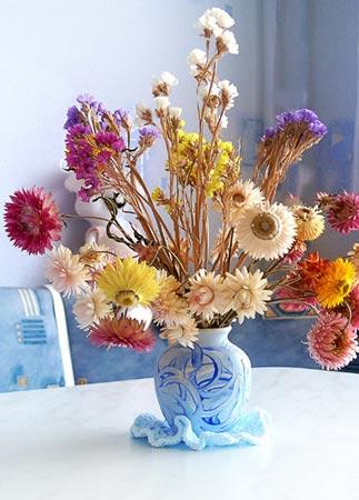 Букеты из сухих цветов в интерьере