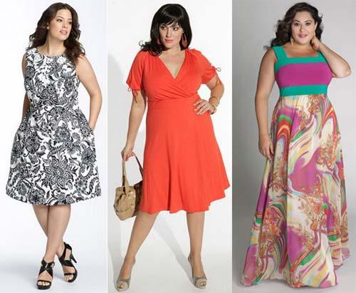 Летняя мода для полных дам 2013
