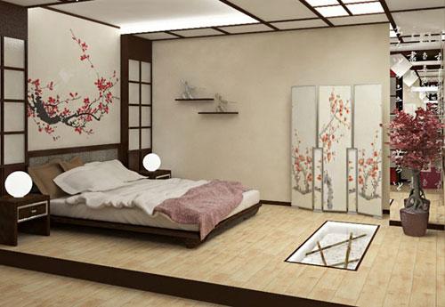 Спальня в японском стиле, красота и совершенство