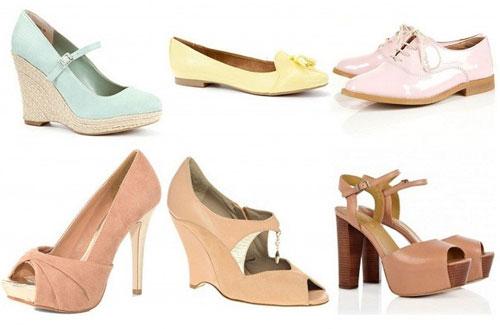 Пастельные туфли: с чем носить