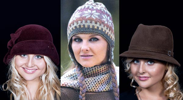 Зимний головной убор для квадратного типа лица