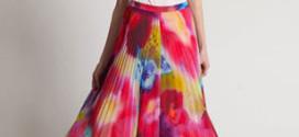 Плиссированная макси-юбка