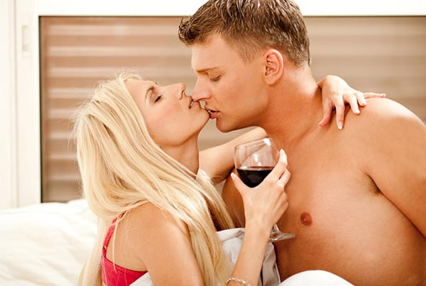 Beautiful blonde couple kissing with lots of tongue 3