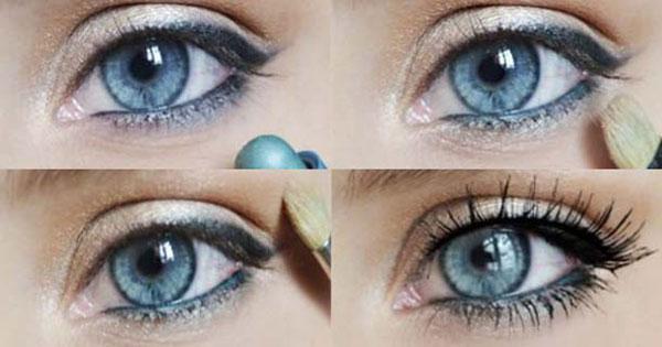 Красивый макияж для голубых глаз (фото)