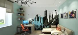 Интерьер комнаты подростка в стиле микс