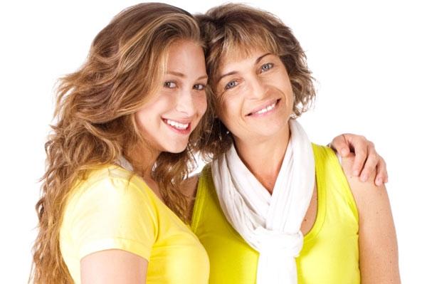 Маму и дочу раком