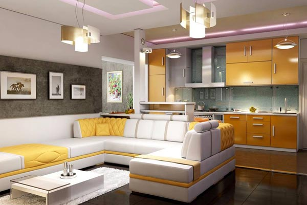 Совместимы ли гостиная и кухня?