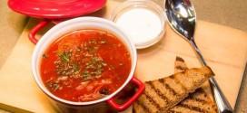 Как приготовить борщ удмуртский грибной с гренками
