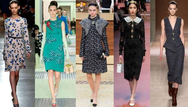 Модные платья зима 2016 года