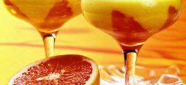 Мусс из персиков с грейпфрутом