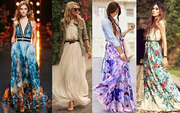 Что носить с макси платьем