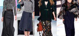Тенденции зимней юбочной моды