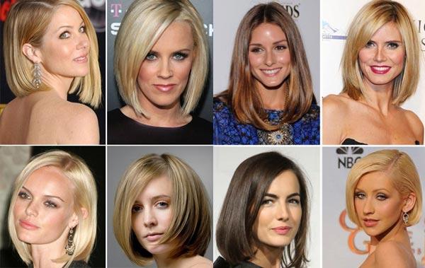 какие прически модные на средние волосы