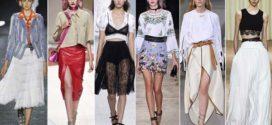 Модные фасоны юбок летом 2017