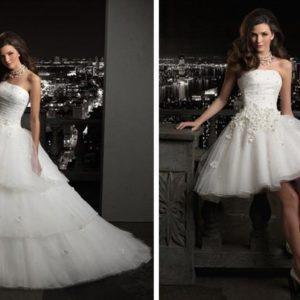 Что надо знать о свадебных платьях-трансформерах?