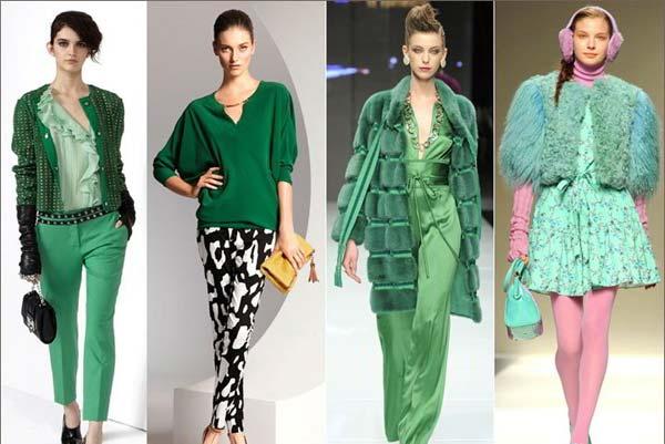 Зелёный цвет снова в моде